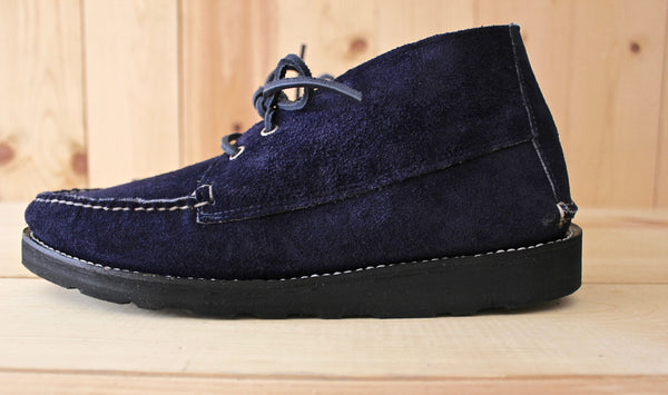 New England Outerwear 2 Eye Chukka in Navy Suede
