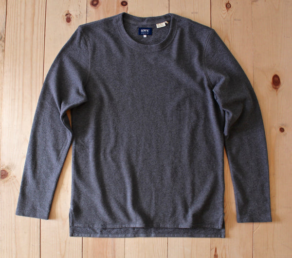 Levi's Made & Crafted LS Tee in Dark Grey Heather FINAL SALE