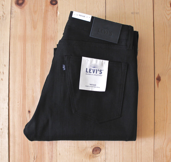 Levi's Made & Crafted Tack Slim in Black Selvedge