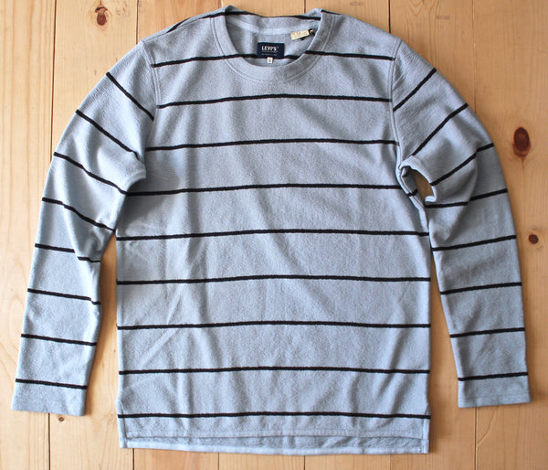 Levi's Made & Crafted LS Stripe Tee in Blue Fog/ Caviar FINAL SALE