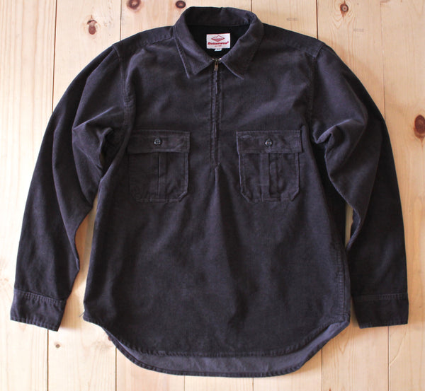 Battenwear Cord Garage Shirt in Charcoal FINAL SALE