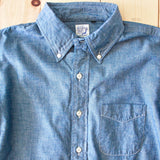 OrSlow Button Down Chambray Shirt in Blue