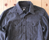 Monitaly Flannel Triple Needle Shirt in Charcoal FINAL SALE