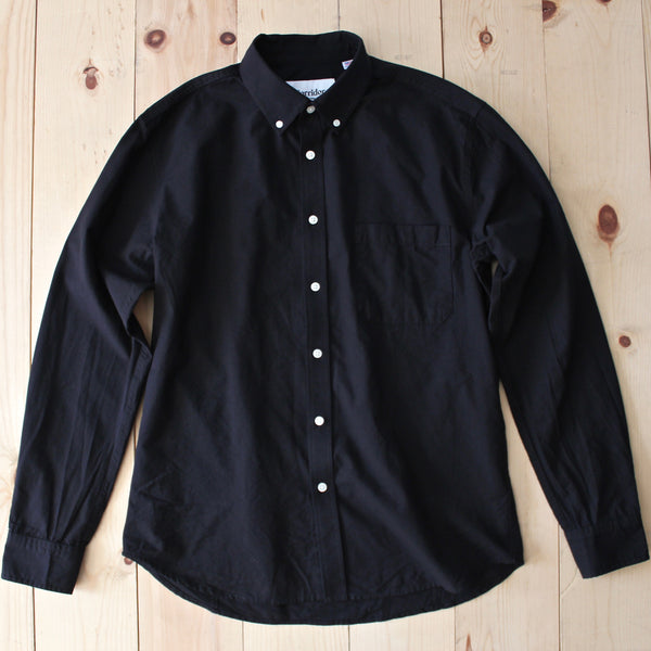 Corridor NYC LS Chambray Shirt in Black