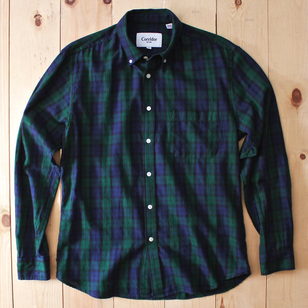 Corridor NYC LS Classic Blackwatch Plaid Shirt