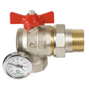 "Ball Valve 1"" Male/Female with Temperature Gauge Angled"