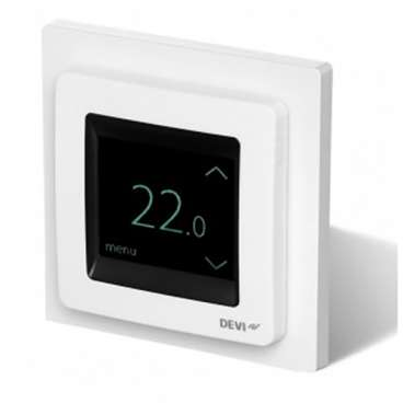 Devireg™ Touch Electric Underfloor Heating Thermostat I Polar White