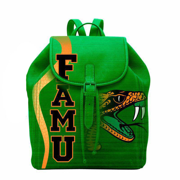 (BACKPACKS) FAMU in Green Backpack/Laptop Bag