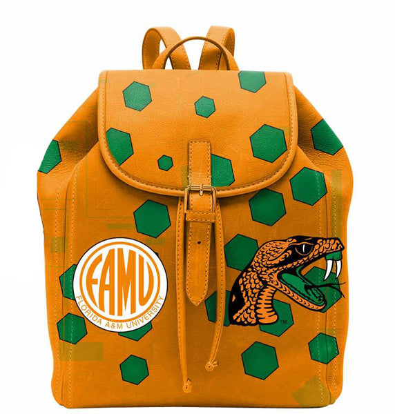 (BACKPACKS) FAMU in Orange Backpack/Laptop Bag