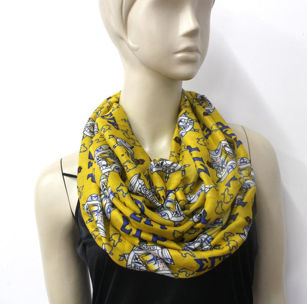 *Infinity Scarf SGRHO  (Small Symbols) HOLIDAY PRE-ORDER ONLY!