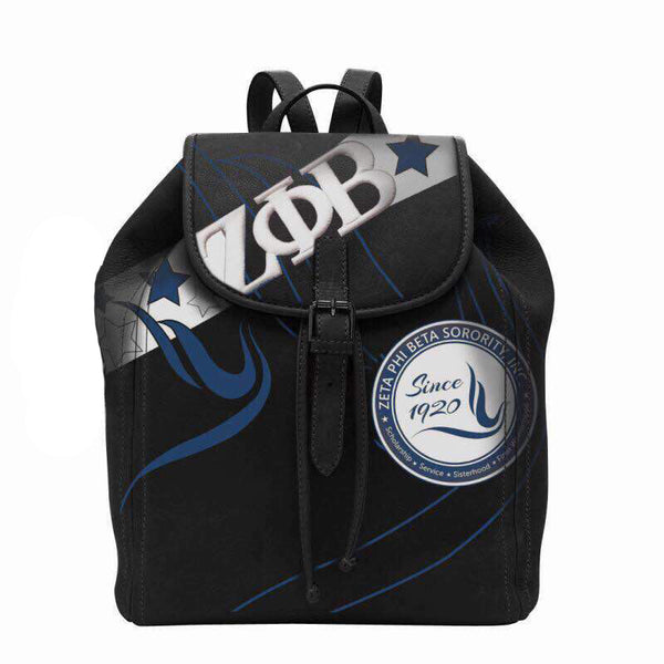 (BACKPACKS) Zeta Phi Beta Backpack/Laptop Bag in Black CLOSEOUT SALE!