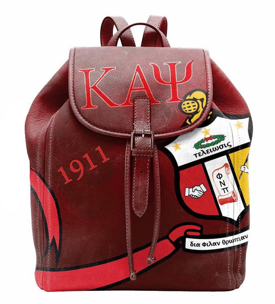 "(BACKPACKS) Kappa Alpha Psi Backpack/Laptop Bag ""Fire Design"""
