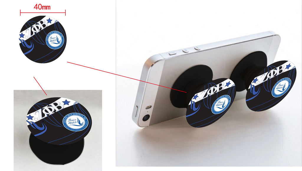 Pop-sockets w car/phone mount Zeta in Black