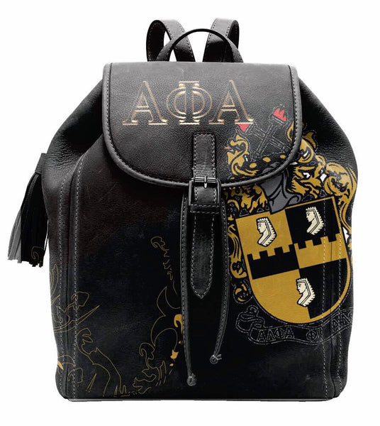 "(BACKPACKS) ALPHA PHI ALPHA Backpack/LAPTOP BAG ""BLACK"""