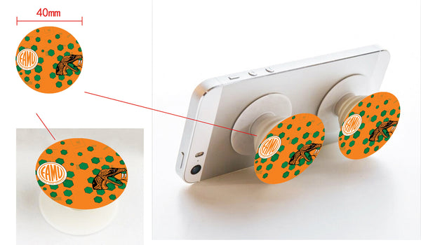*Pop-sockets w car/wall mount FAMU Orange