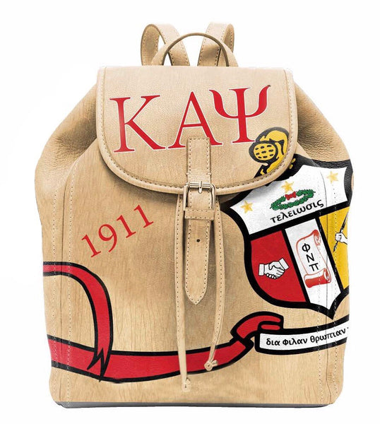 "(BACKPACKS) Kappa Alpha Psi  Backpack/Laptop Bag""Wood Design"""