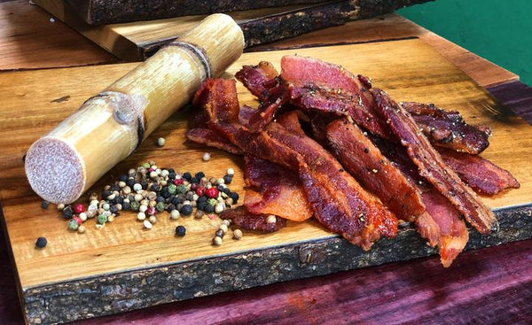 Applewood Peppered Uncured Bacon Jerky