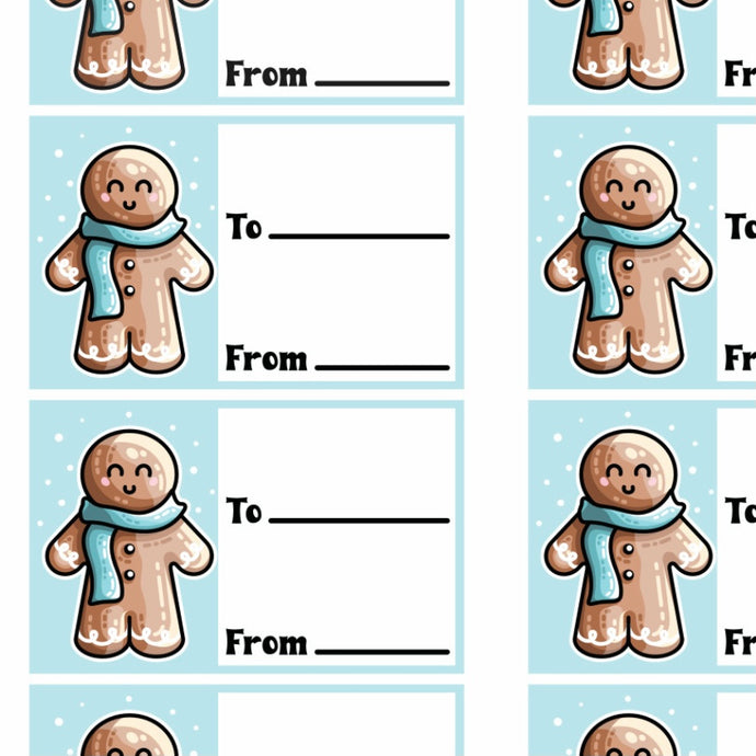 Gingerbread Person Printable Gift Tags