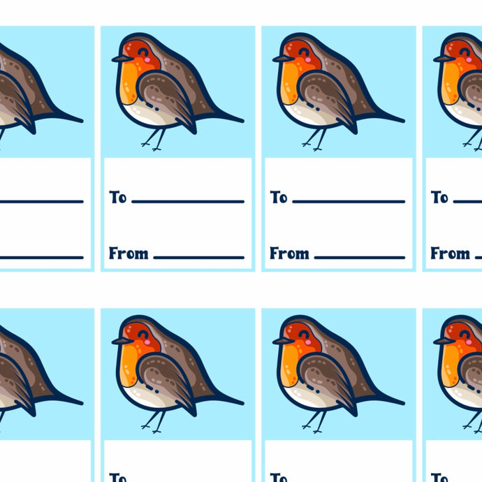 Robin Bird Printable Gift Tags