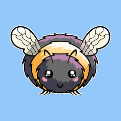 Kawaii cute fluffy bee