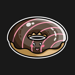 Kawaii cute glistening chocolate doughnut