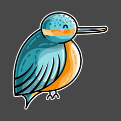 Cute kingfisher bird side on