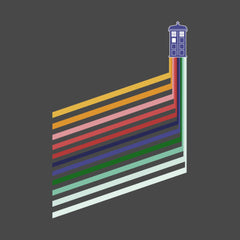 Doctor Who retro stripes and Tardis