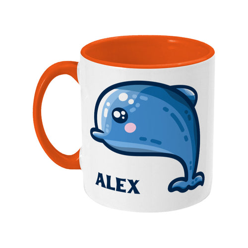 Dolphin Kawaii Cute Ceramic Mug