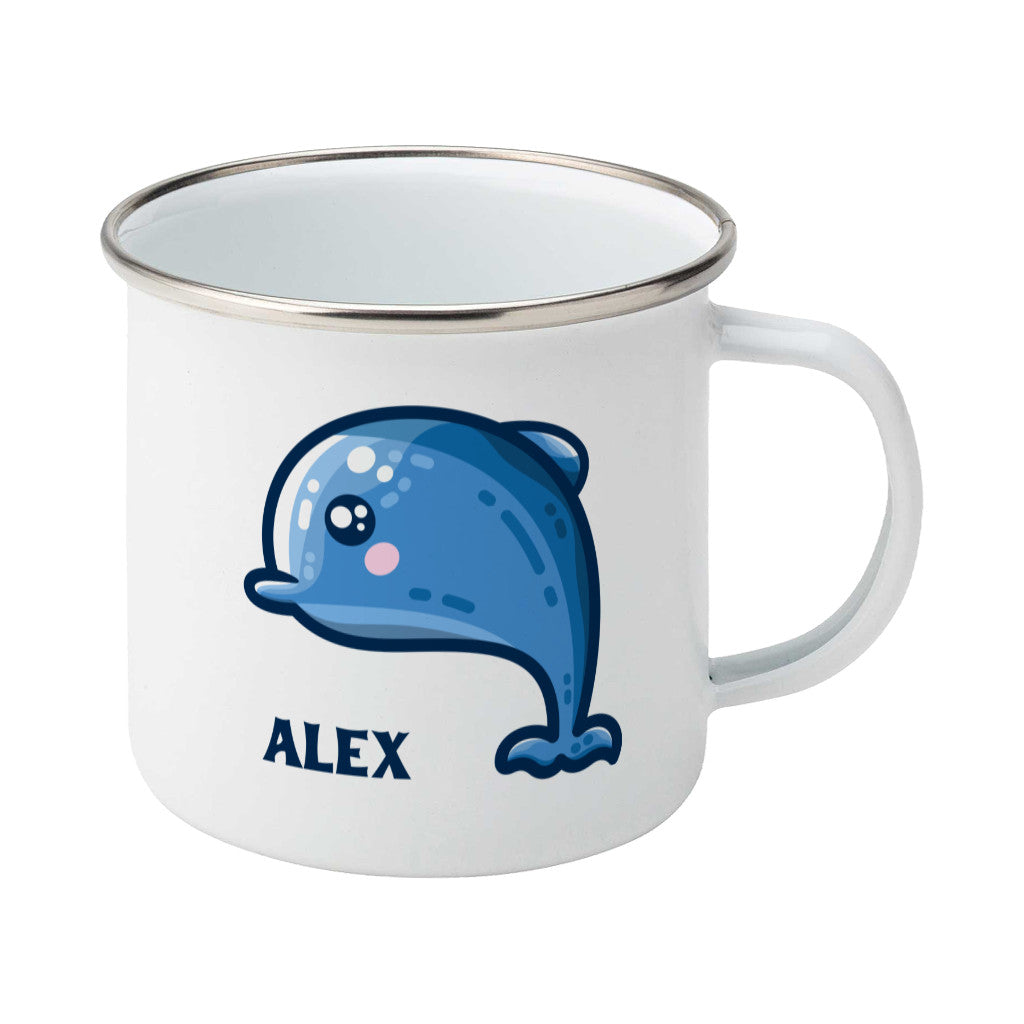 Dolphin Kawaii Cute Personalised Enamel Mug