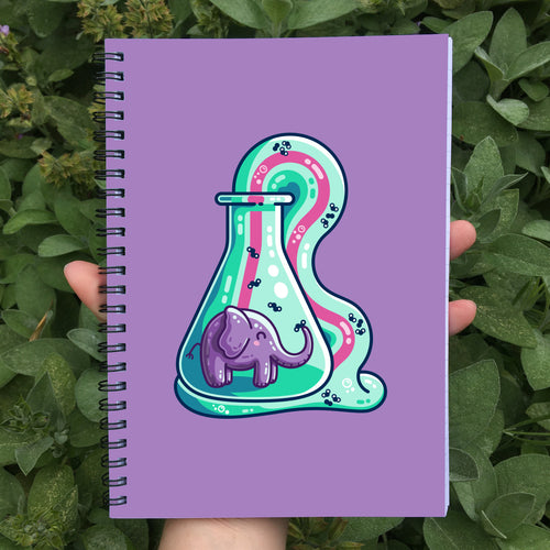 Elephant Toothpaste Spiral Notebook