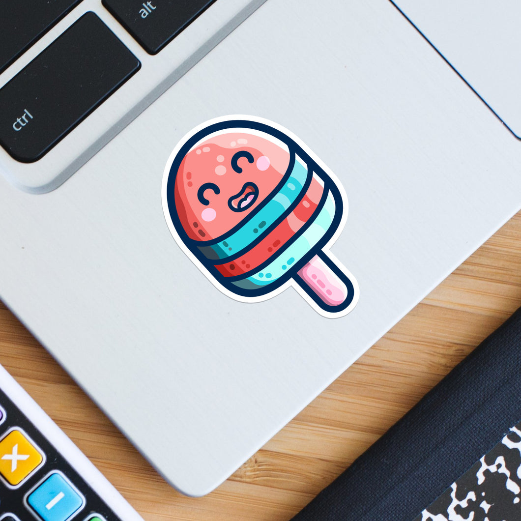 Ice Lolly Die Cut Vinyl Sticker