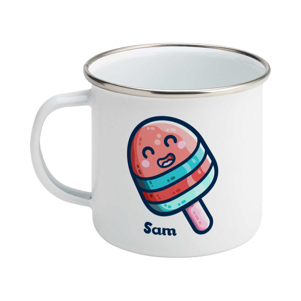 Ice Lolly Kawaii Cute Personalised Enamel Mug