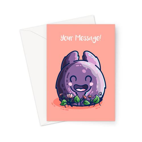 Monster and Flowers Personalised Greeting Card