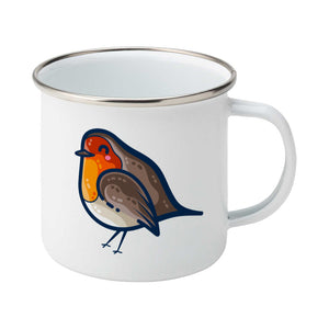 Robin Bird Kawaii Cute Enamel Mug