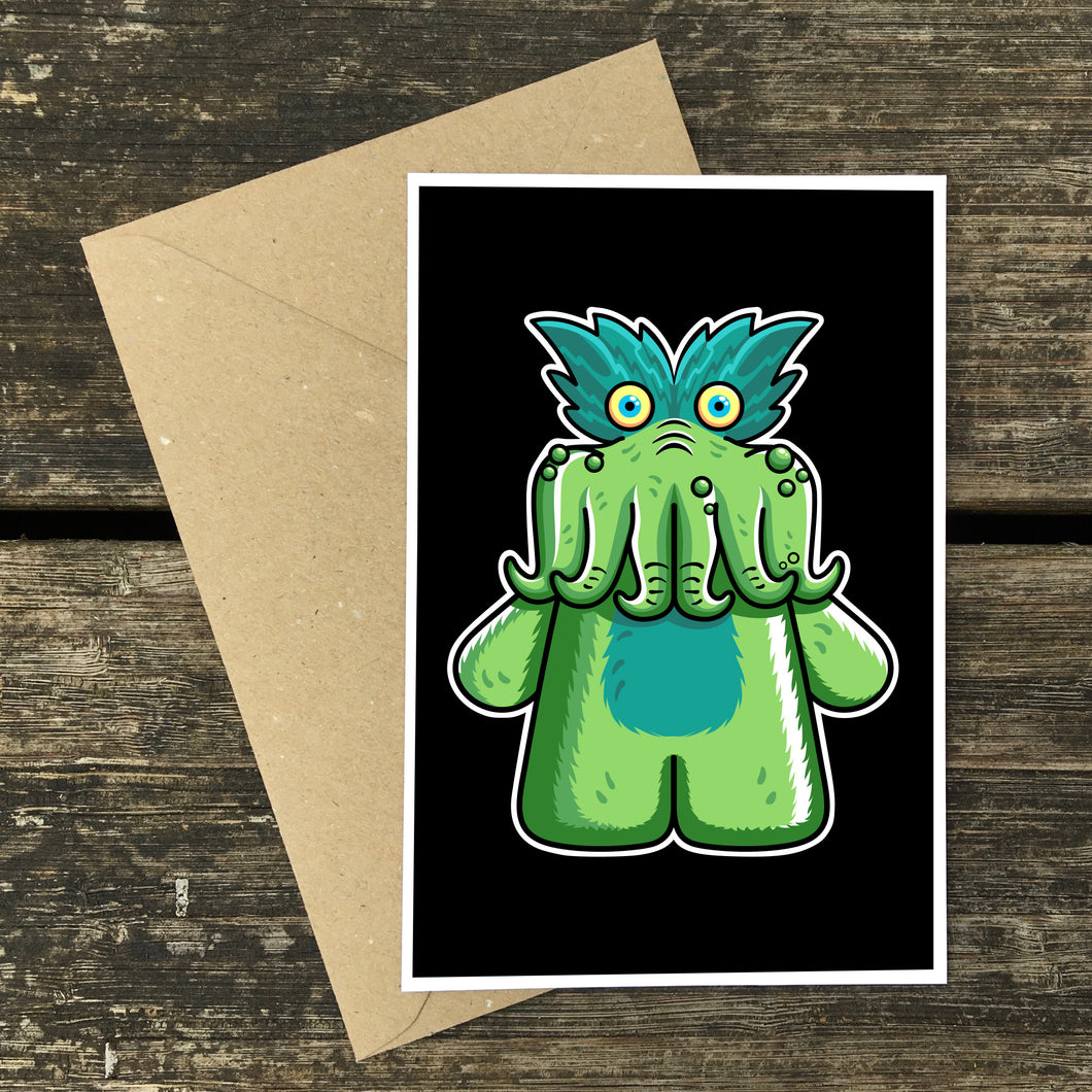 Tickle-Me-Wiggly Postcard Print