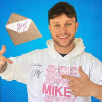 Mikey Cobban - SIGNED Jeffrey White Hoodie with handwritten letter!