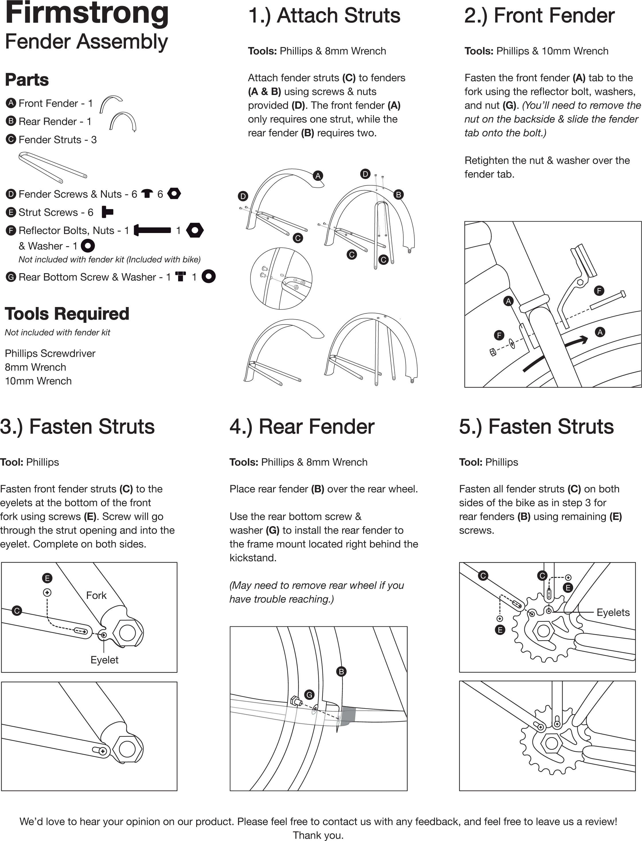 Fender Assembly Instruction