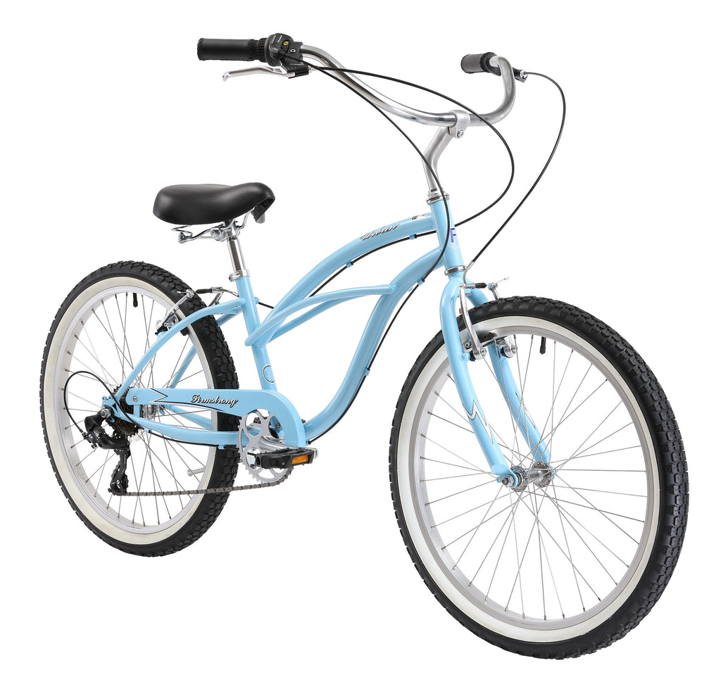 "Firmstrong 24"" Urban Lady 7 Speed - Women's Beach Cruiser Bike"