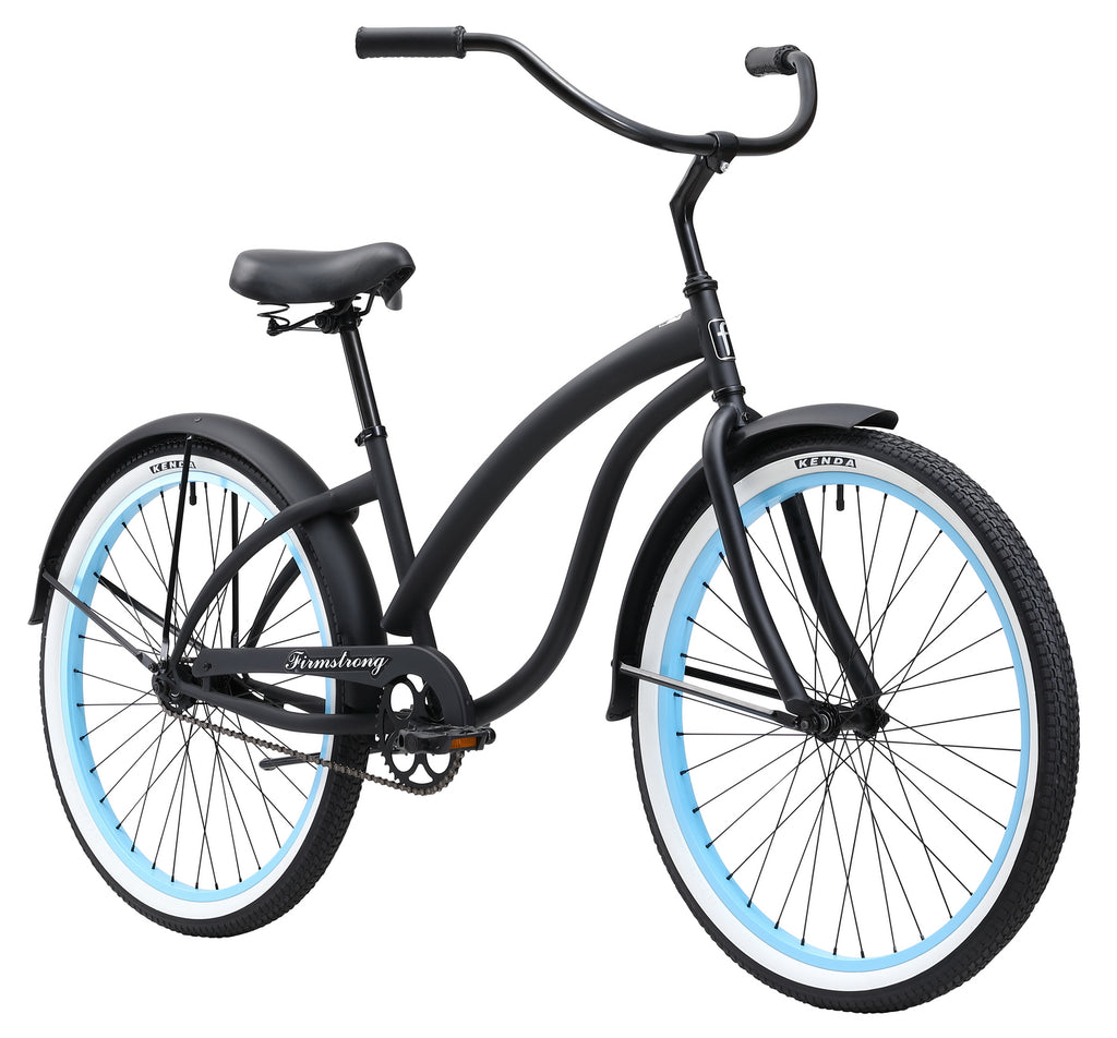 "Firmstrong 26"" Bella Fashionista Single Speed - Women's Beach Cruiser Bike"