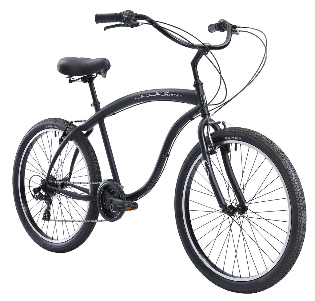 "Firmstrong Bruiser 21 Speed Men's 26"" Beach Cruiser Bike"