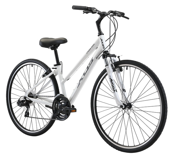 XDS Cross 200 21sp Step-Through Hybrid City Commuter Bike  //  Arctic White