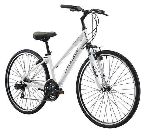 XDS Cross 200 21sp Women's 700C Step-Through Hybrid City Commuter Bike  //  Arctic White