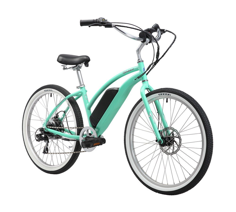 "Firmstrong 26"" E-Urban Lady 350W Seven Speed Beach Cruiser Electric Bicycle"