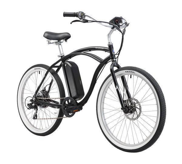 "Firmstrong 26"" E-Urban Man 350W Seven Speed Beach Cruiser Electric Bicycle"