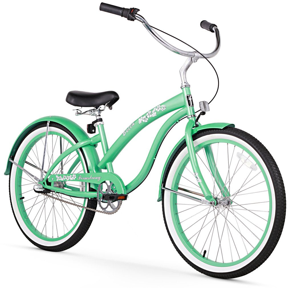 "Firmstrong 24"" Bella Classic 3 Speed - Women's Beach Cruiser Bike"