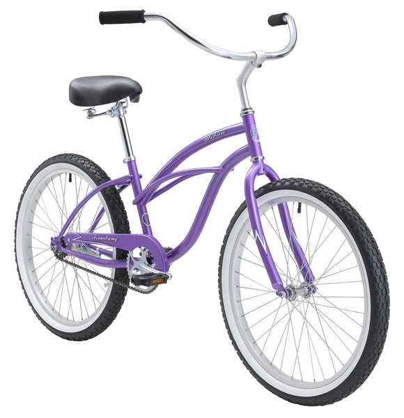 "Firmstrong 24"" Urban Lady Single Speed - Women's Beach Cruiser Bike"