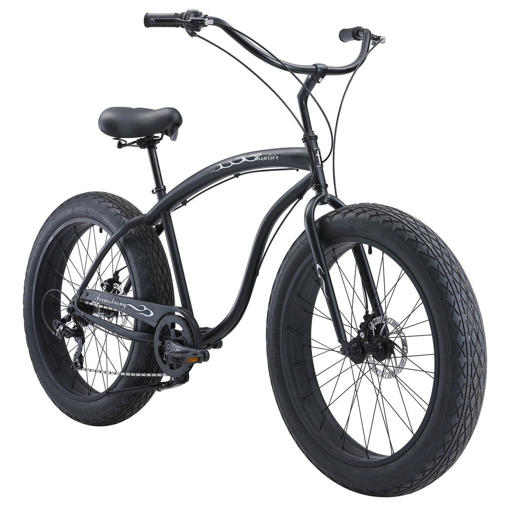 "Firmstrong Bruiser 7 Speed 4"" Fat Tire Men's 26"" Beach Cruiser Bike"