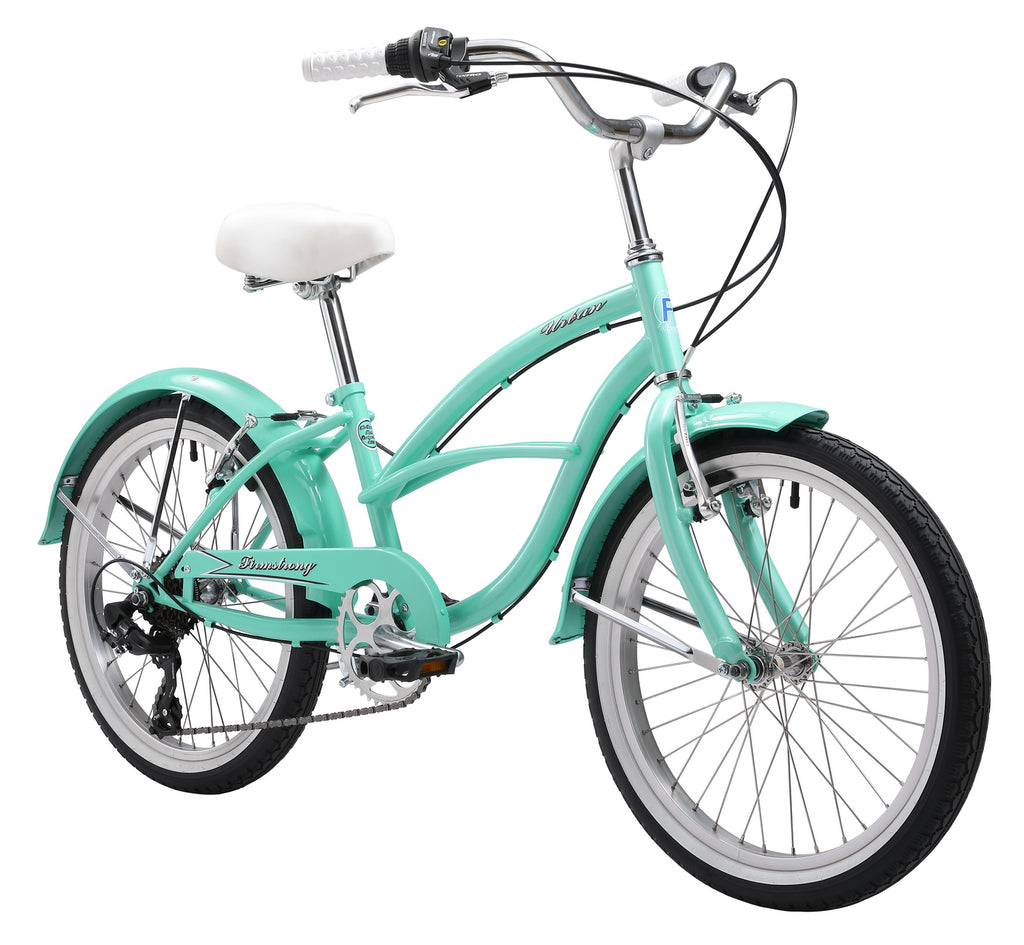 "Firmstrong 20"" Urban Girl 7 Speed Beach Cruiser Bicycle"