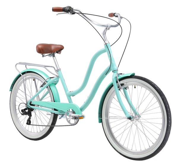 "XDS Hyna 7 Speed 26"" Women Alloy Hybrid Beach Cruiser Bicycle"