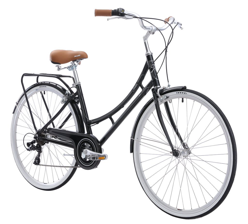 XDS Nadine 7sp Women's Hybrid City Commuter Bike //  Classic Black